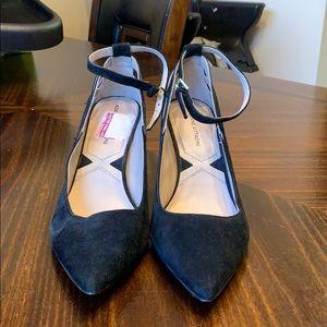 Adrienne Vittadini Black Suede Heels